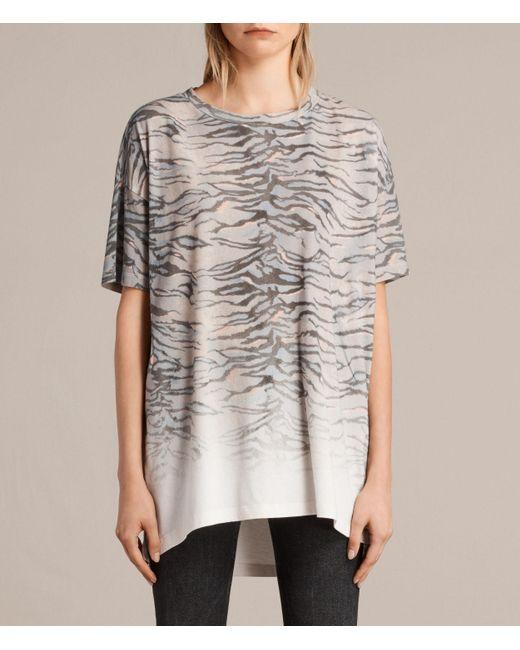 AllSaints | White Tygr Cori T-shirt | Lyst