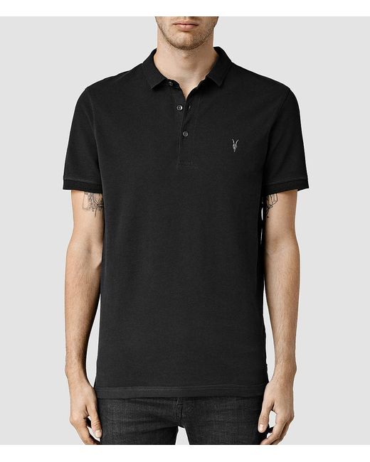 AllSaints - Gray Reform Polo for Men - Lyst