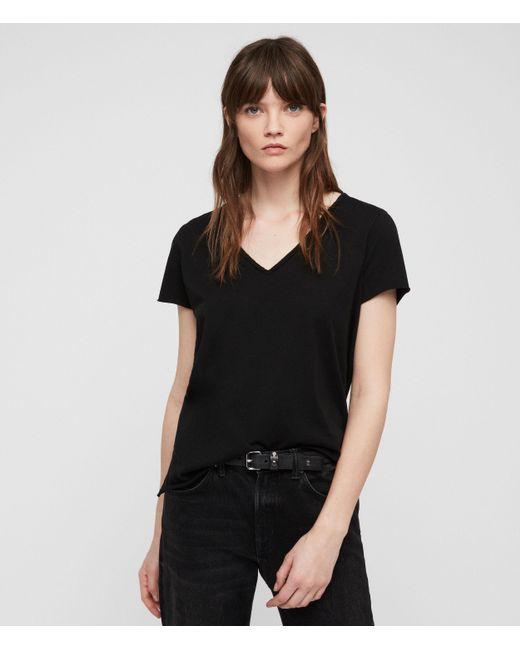 AllSaints - Black Emelyn Tonic T-shirt - Lyst