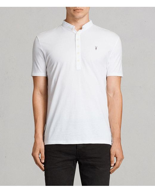 AllSaints - White Saints Polo Shirt for Men - Lyst