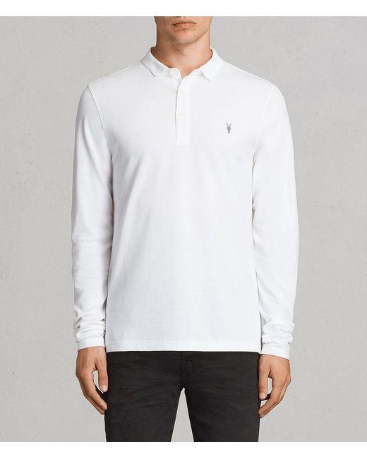 AllSaints - White Reform Polo Shirt for Men - Lyst
