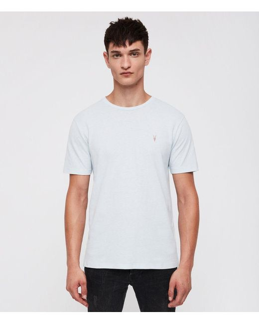 AllSaints - Blue Brace Tonic Crew T-shirt for Men - Lyst