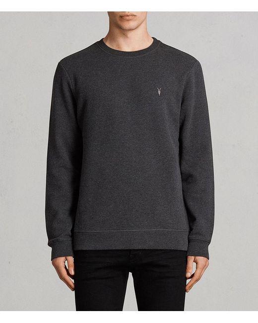 AllSaints | Gray Raven Crew Sweatshirt for Men | Lyst