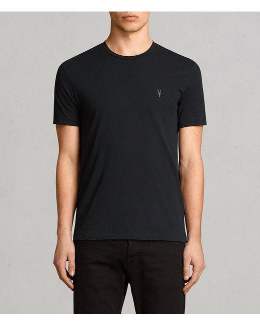AllSaints - Black Tonic Crew T-shirt for Men - Lyst