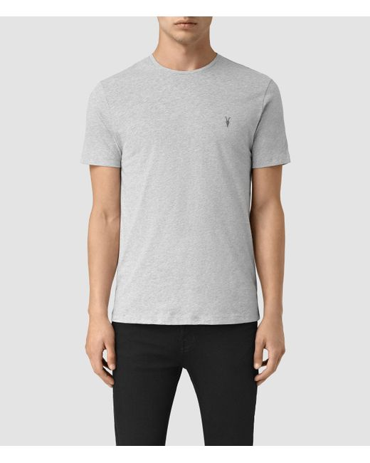 AllSaints | Gray Brace Tonic Crew T-shirt for Men | Lyst