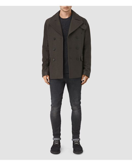 AllSaints | Blue Felix Peacoat Usa Usa for Men | Lyst