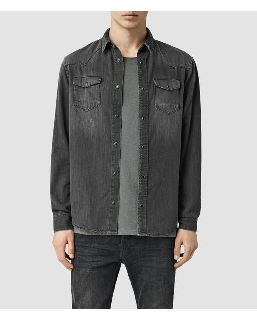 AllSaints   Gray Marilla Shirt Usa Usa for Men   Lyst