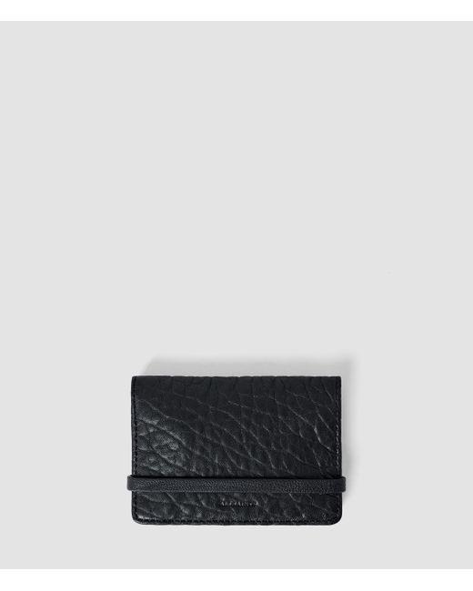 AllSaints | Black Paradise Leather Cardholder | Lyst