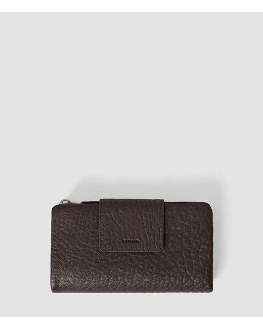 AllSaints   Purple Paradise Japanese Leather Wallet   Lyst