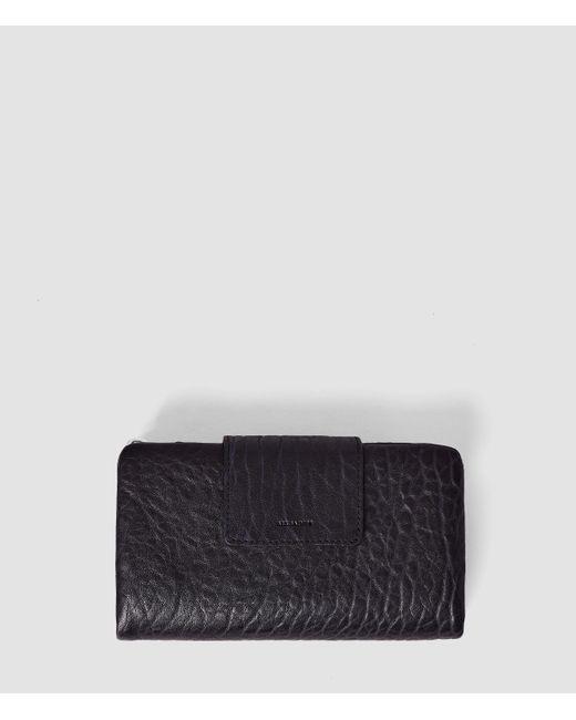 AllSaints | Blue Paradise Japanese Leather Wallet | Lyst