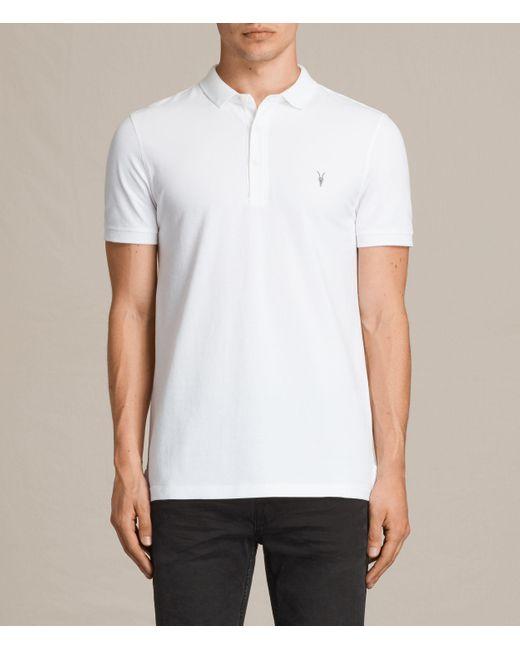 AllSaints | White Reform Polo Shirt for Men | Lyst