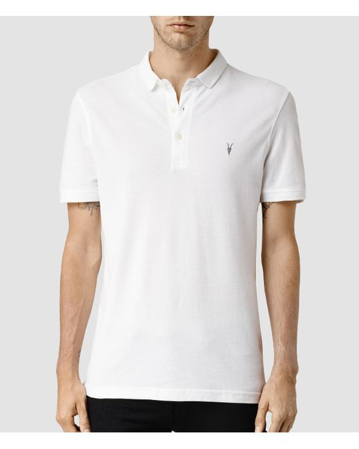 AllSaints | White Reform Polo Shirt for Men | Lyst