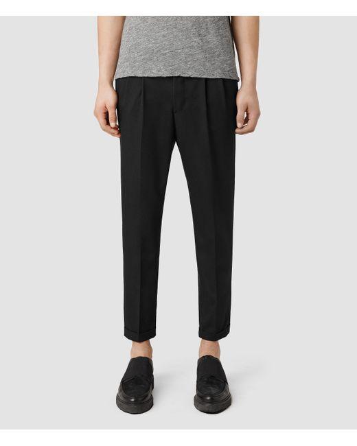 AllSaints | Black Tallis Trousers for Men | Lyst