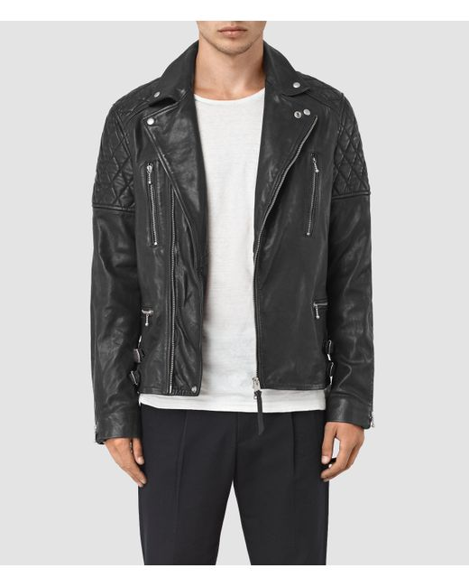 Side Zip Leather Jacket Mens India Allsaints Yuku Leather