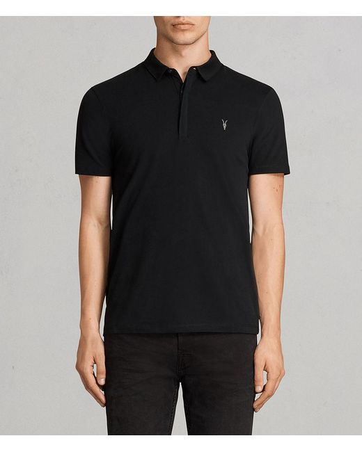 AllSaints - Black Brace Polo Shirt for Men - Lyst