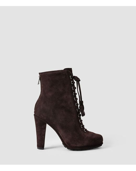 AllSaints - Brown Grimsby Suede Ankle Boots - Lyst