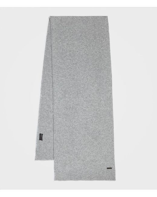 AllSaints - Gray Solid Cashmere Scarf for Men - Lyst