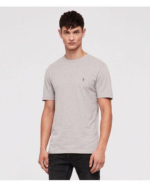 AllSaints - Gray Brace Tonic Crew T-shirt for Men - Lyst