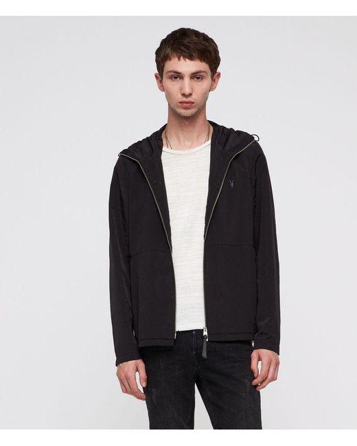 AllSaints - Black Darley Hooded Zip Jacket for Men - Lyst