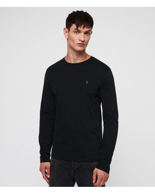 712423c1 Lyst - Allsaints Clash Crew T-shirt in Black for Men - Save ...
