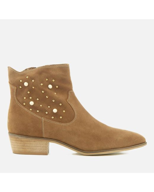 Rebecca Minkoff - Brown Stella Pearl Suede Western Boots - Lyst