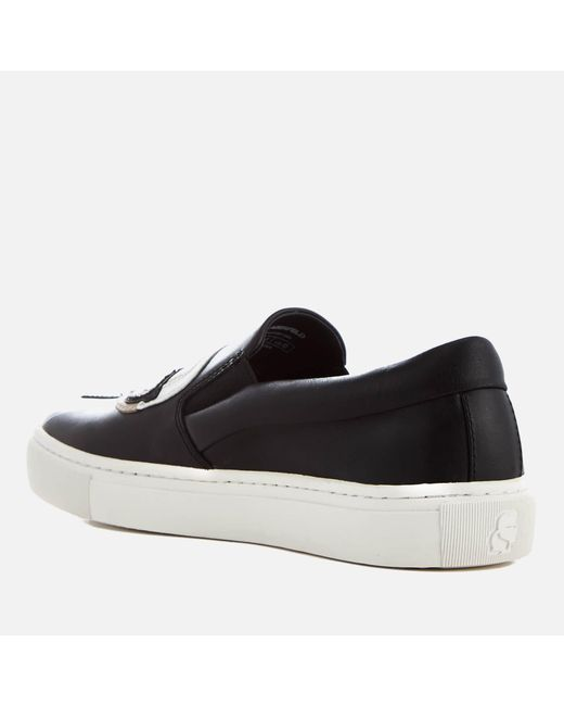ec94402adda ... Karl Lagerfeld - Black Women s Kupsole Leather Karl Ikonic Slip-on  Trainers ...