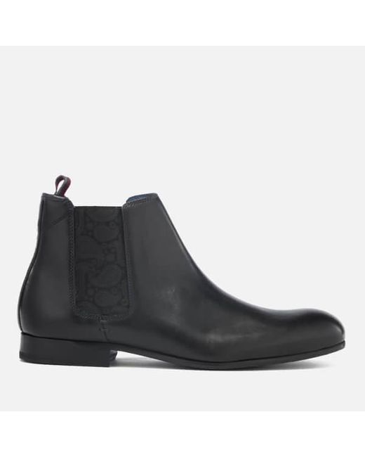 Ted Baker | Black Men's Kayto Leather Chelsea Boots for Men | Lyst