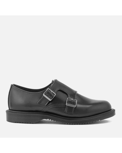Dr. Martens | Black Women's Kensington Pandora Leather Double Monk Strap Shoes | Lyst