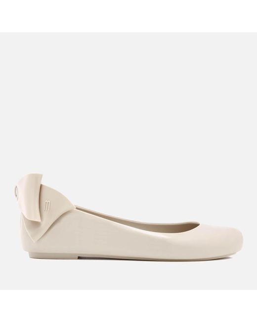 Melissa | White Women's Space Love Gift Bow Ballet Flats | Lyst