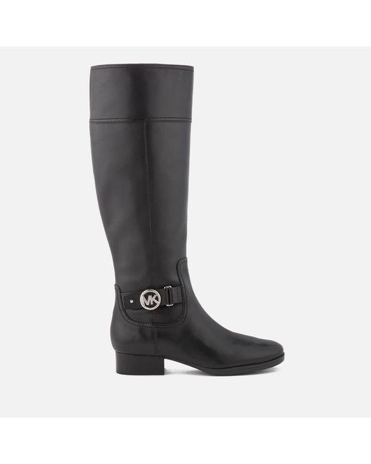 MICHAEL Michael Kors - Black Harland Leather Knee High Boots - Lyst