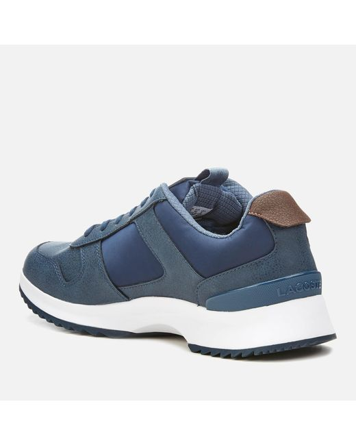 0ce32318cfc819 ... Lacoste - Blue Joggeur 2.0 318 1 Textile leather Runner Style Trainers  for Men ...