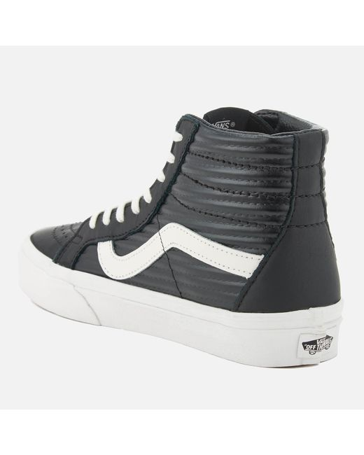 c6baefb0f5b2 online shop b0476 25921 lyst vans sk8 hi leather trainers white ...