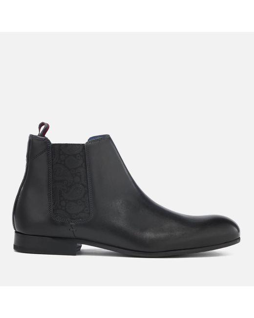 Ted Baker | Black Men's Kayto Leather Chelsea Boots for Men | Lyst