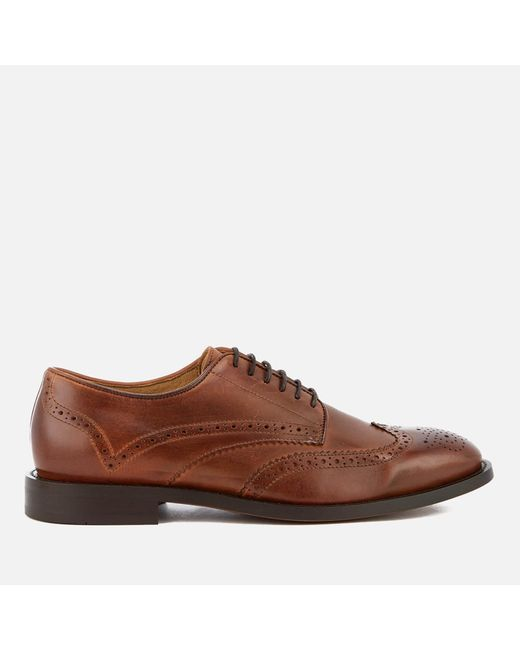 H by Hudson - Brown Whitman Leather Brogues for Men - Lyst