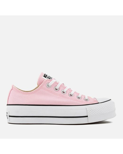 a36489902eb367 Converse - Pink Chuck Taylor All Star Lift Ox Trainers - Lyst ...