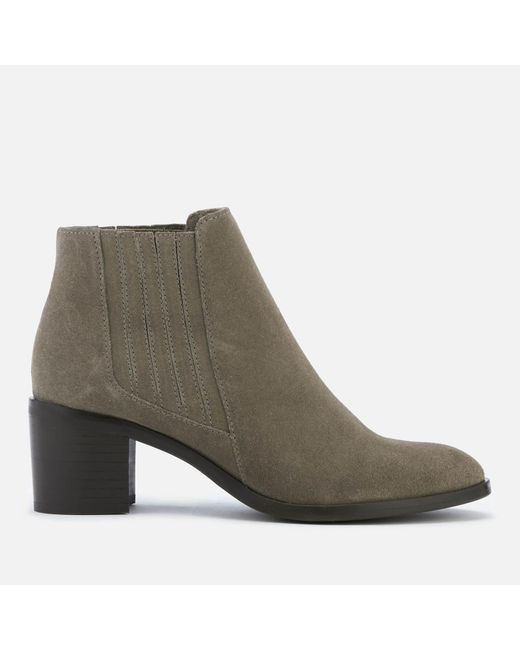 Dune | Brown Women's Peter Suede Heeled Ankle Boots | Lyst