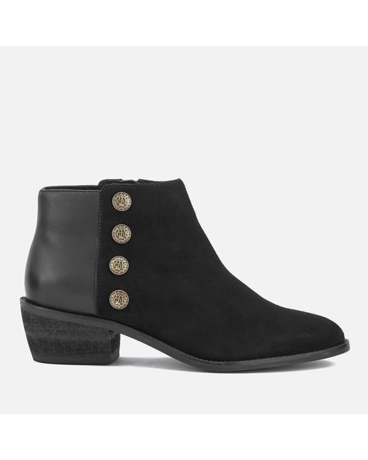Dune | Black Women's Panella Suede Ankle Boots | Lyst