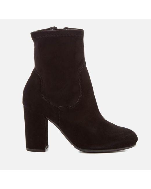 Dune - Black Women's Oakes Suede Heeled Sock Boots - Lyst
