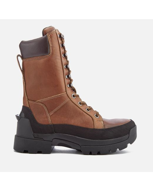 Hunter - Brown Men's Field Lace Up Tall Boots for Men - Lyst