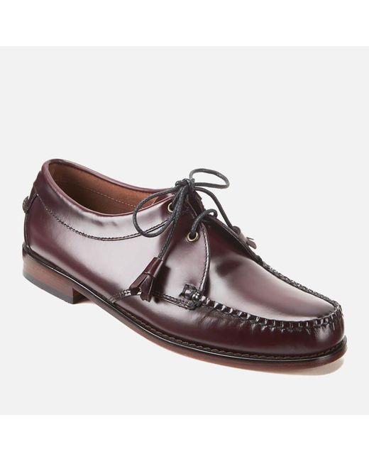 292920b9494 ... Lyst G.H.BASS - Red Men s Lace Up Leather Loafers for Men ...
