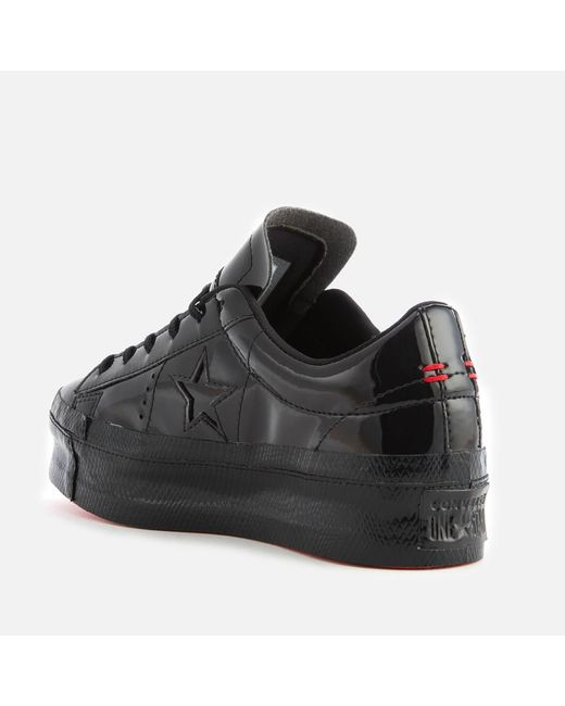 7d4da1947238 ... Converse - Black One Star Platform Ox Trainers - Lyst ...