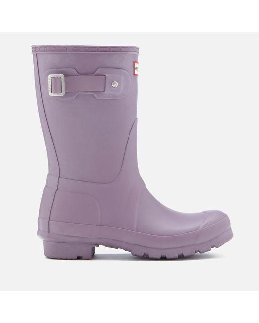 Hunter - Purple Original Short Wellies - Lyst