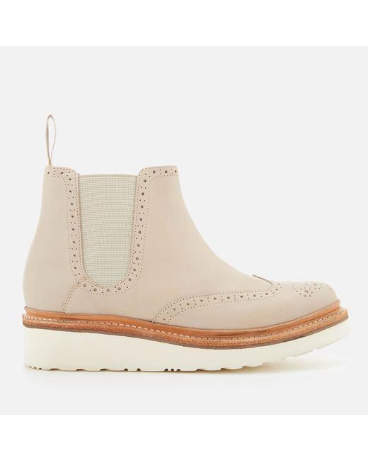 GRENSON - Natural Alice Leather Chelsea Boots - Lyst