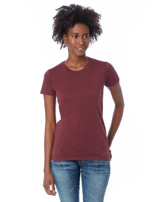 Alternative Apparel   Purple Basic Womens Crew T-shirt   Lyst