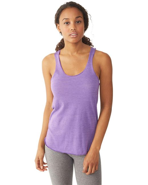 Alternative Apparel | Purple Meegs Racerback Eco-jersey Tank Top | Lyst