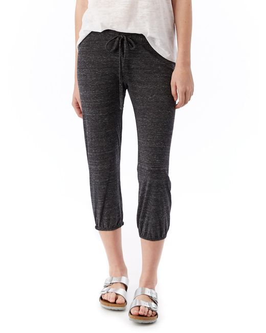 Alternative Apparel | Black Eco-jersey Crop Pants | Lyst