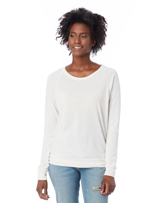 Alternative Apparel | White Slouchy Eco-jersey Pullover | Lyst