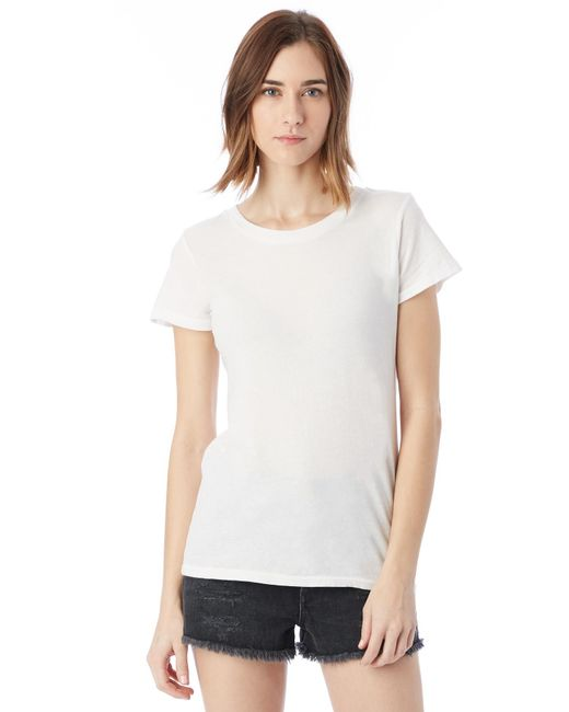 Alternative Apparel | White Vintage Garment Dyed Crew T-shirt | Lyst