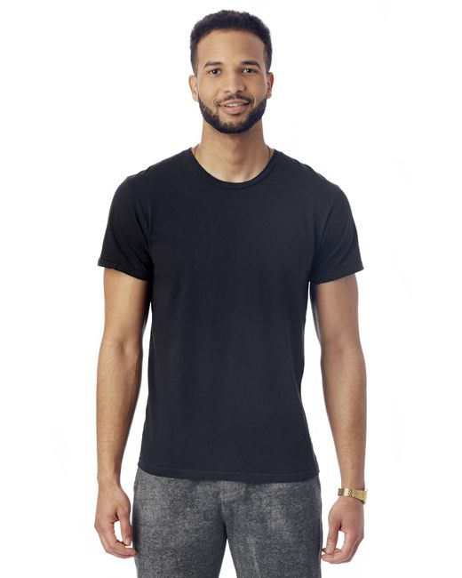 Alternative Apparel   Black Heritage Garment Dyed Distressed T-shirt for Men   Lyst