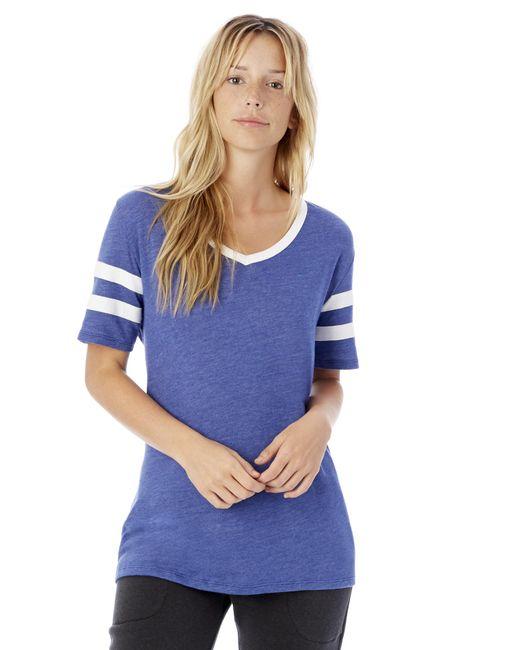 Alternative Apparel - Blue Varsity Vintage Jersey T-shirt - Lyst
